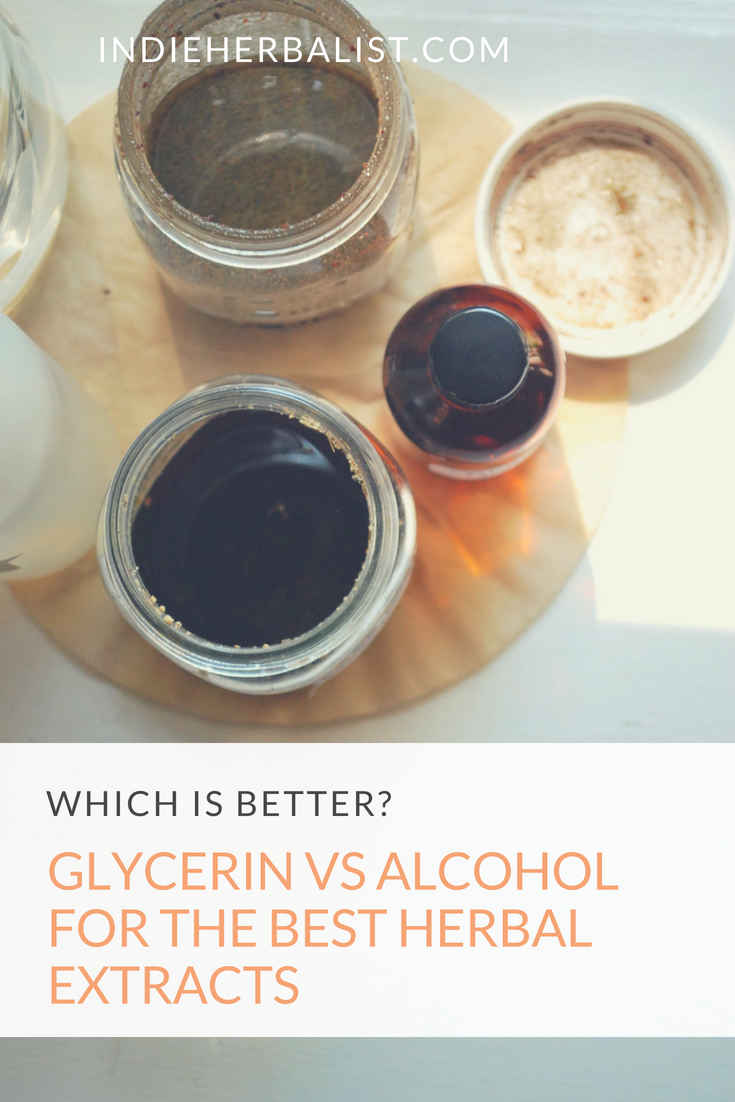 Glycerin vs  Alcohol for the Best Herbal Extracts | indieherbalist