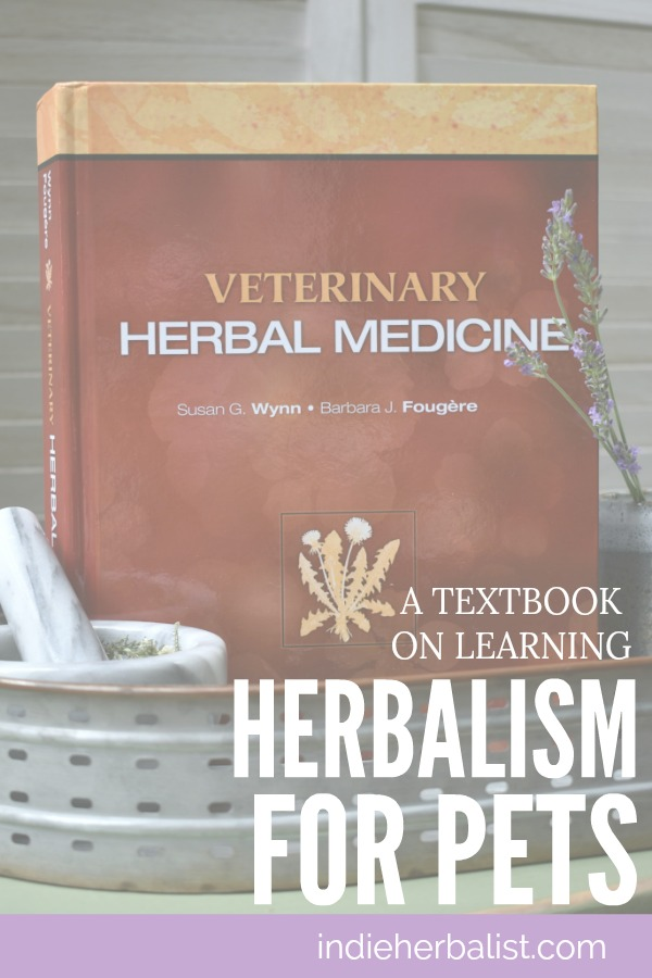 Textbook for learning veterinary herbalism for pets