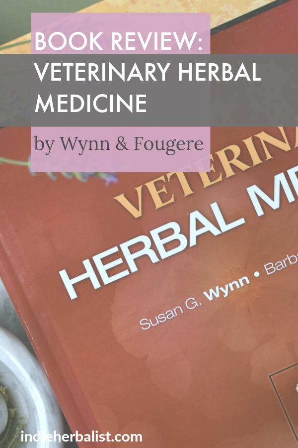 Front cover of Veterinary Herbal Medicine Book