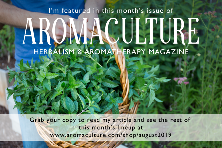 August Article in AromaCulture Magazine